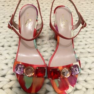 Beautiful Kate Spade Jewels Strappy Heals Size 8